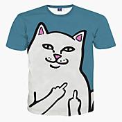 Hombre Deportes Tallas Grandes Estampado Camiseta
