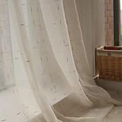 Corredizo Anillo Lazo de tela Doble plisado Solo plisado Dos Paneles Ventana Tratamiento Modern , Jacquard Ajedrez Sala de estar Mezcla