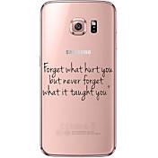 Para Samsung Galaxy S7 Edge Transparente / Diseños Funda Cubierta Trasera Funda Palabra / Frase Suave TPU SamsungS7 edge / S7 / S6 edge