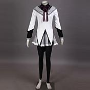 Inspirado por Mahou Shoujo Madoka Magica Homura Akemi Animé Disfraces de cosplay Trajes Cosplay Retazos Top Falda Pantalones Pulsera Lazo