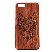 iphone 7プラス木製ケースはiphone 6S 6プラスSE 5秒5のためにハードカバーを後方に森林狼のトーテムをティンバーウルブズ