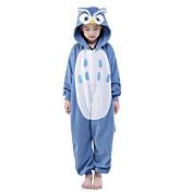 Pijamas Kigurumi Búho Pijamas de una pieza Disfraz Mink Velvet Azul Cosplay por Niños Ropa de Noche de los Animales Dibujos animados