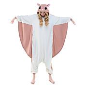 Pijamas Kigurumi Ardilla voladora / Ardilla Pijamas de una pieza Disfraz Lana Polar Rosa Cosplay por Adulto Ropa de Noche de los Animales