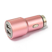 Dual USB del cigarrillo del coche adaptador de corriente más ligera para los teléfonos inteligentes y las pestañas
