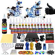 kit de tatuaje tatuaje completa Solong 2 favorable máquina s 28 tintas de alimentación agujas apretones