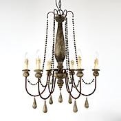 Vintage Tradicional/Clásico Retro Campestre Lámparas Araña Para Sala de estar Dormitorio Cocina Comedor Habitación de estudio/Oficina