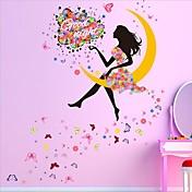 Caricatura Pegatinas de pared Calcomanías de Aviones para Pared Calcomanías Decorativas de Pared / Calcomanías de Bodas,PVC Material