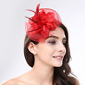 red de plumas fascinators headpiece elegante estilo femenino clásico