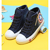 Unissex Sapatos Lona Primavera Outono Oxfords Caminhada Rasteiro Cadarço Para Casual Azul Escuro Azul Claro