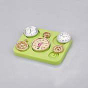 ホット卸売時計と腕時計シリコーンケーキの色をランダムに飾るケーキ