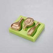 forma de la botella del silicón de la categoría alimenticia para la decoración de la torta molde del fondant que cuece el color de ramdon