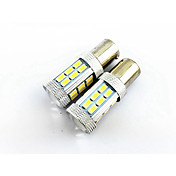2pcs 1156 (ba15s) 27 SMD 4W 1500lm luces del coche de voltaje de ancho, luz de marcha atrás, lámpara de cola (10-24V)