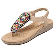 Mujer Zapatos Semicuero Primavera Verano Otoño Mary Jane Gladiador Sandalias Paseo Tacón Bajo Puntera abierta Con Pedrería Cristal