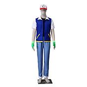 Inspirado por Pocket Little Monster Ash Ketchum Animé Disfraces de cosplay Trajes Cosplay Un ColorChaqueta Chalecos Pantalones Guantes