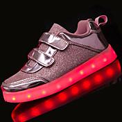 Chica-Tacón Plano-Confort Light Up Zapatos-Bailarinas-Informal-Tul-Plata Rosa Dorado