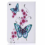 Para Soporte de Coche / con Soporte / Flip / Diseños Funda Cuerpo Entero Funda Mariposa Dura Cuero Sintético AppleiPad Mini 4 / Mini iPad