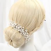 diadema de imitación perla diadema casco clásico estilo femenino