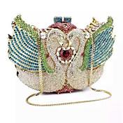 Mujer Bolsos PU Metal Bolso de Mano Cristal / Cristal para Boda Evento/Fiesta Formal Todas las Temporadas Dorado Plata Azul Claro