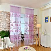 Corredizo Un Panel Ventana Tratamiento Europeo , Estampado Flor Sala de estar Poliéster Material Sheer Cortinas Cortinas Decoración