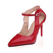 Mujer-Tacón Stiletto-Confort-Tacones-Informal-PU-Negro Rosa Rojo