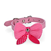 犬 カラー 調整可能 / 引き込み式 点滅 蝶結び オレンジ パープル ローズ レッド ピンク