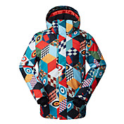GSOU SNOW 男性用 スキージャケット 防水 保温 防風 抗紫外線 耐久性 高通気性 スキー ウィンタースポーツ ポリエステル