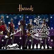 クリスマス / 文字 / ホリデー ウォールステッカー プレーン・ウォールステッカー 飾りウォールステッカー,PVC 材料 取り外し可 / 再利用可 ホームデコレーション ウォールステッカー・壁用シール