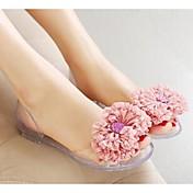 Mujer Zapatos PVC De Goma Sandalias Talón translúcido Azul / Rosa