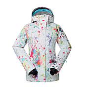GSOU SNOW 女性用 スキージャケット 防水 保温 防風 抗紫外線 耐久性 高通気性 スキー ウィンタースポーツ ポリエステル