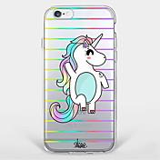 Funda Para Apple iPhone X iPhone 8 Plus iPhone 7 iPhone 6 Funda iPhone 5 Ultrafina Transparente Diseños Cubierta Trasera Unicornio Suave