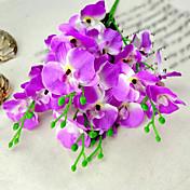 2 paquetes / porción moderna orquídea de seda polilla orquídea flor artificial para la decoración