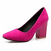 Mujer-Tacón Robusto-Confort Innovador-Tacones-Boda Oficina y Trabajo Vestido Informal Fiesta y Noche-Cuero Patentado Semicuero-Negro Rojo