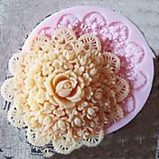 ケーキのための3D丸い花シリコーン型のフォンダン金型シュガークラフトツール、チョコレートモールド