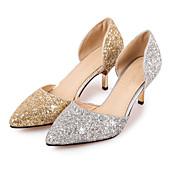 Mujer Zapatos Purpurina Primavera Verano Otoño Tacones Tacón Stiletto Dedo Puntiagudo Lentejuela Para Boda Fiesta y Noche Dorado Plata