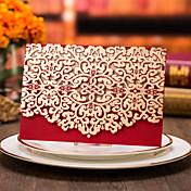 トップ折り 結婚式の招待状-招待状カード ビンテージ カード用紙 タッセル