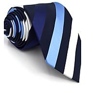 メンズ ヴィンテージ キュート パーティー オフィス カジュアル ネクタイ,レーヨン 幾何学模様,オールシーズン ブルー