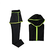 女性用 トラックスーツ 長袖 速乾性 高通気性 パンツ パーカー 洋服セット トップス のために ヨガ エクササイズ&フィットネス ランニング モーダル ポリエステル スリム S M L XL