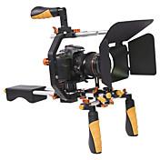 yelangu DSLRリグ設定ムービーキットのフィルム製造システムは、肩はすべてのデジタル一眼レフカメラやビデオカメラ用の焦点とマットボックスに従ってマウント含みます