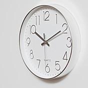 コンテンポラリー カジュアル オフィス 休暇 音楽 家族 壁時計,円形 ウッド 30*30 屋内/屋外 屋内 クロック