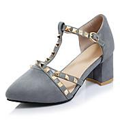 Mujer Zapatos Semicuero Primavera Verano Otoño Invierno D'Orsay y Dos Piezas Tacones Tacón Robusto Dedo Puntiagudo Cuentas Hebilla Poroso