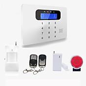 inalámbrico&sistema de cable toque la pantalla LCD Teclado casa de seguridad de alarma GSM