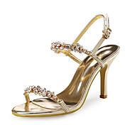 Mujer-Tacón Stiletto-Zapatos del club-Sandalias-Boda Vestido Fiesta y Noche-Sintético Purpurina-Oro