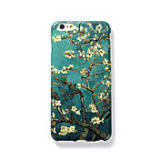 Funda Para Apple Congelada En Relieve Diseños Cubierta Trasera Árbol Dura Policarbonato para iPhone 7 Plus iPhone 7 iPhone 6s Plus iPhone