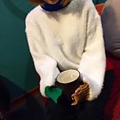サイン〜韓国ミンクカシミアフラッシュ不規則な袖口は固体セーターの女性をヘッジ色のセーターを打ちます