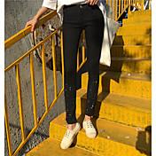 サインズボンのジッパーの足パンツタイトなジーンズは、ドットを描きます