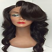 venta caliente vírgenes peluca del pelo pelucas delanteras del cordón sin cola humanos con la onda del cuerpo del pelo del bebé del color