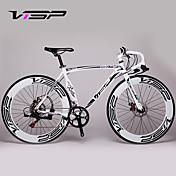 コンフォートバイク / マウンテンバイク / ロードバイク サイクリング 14スピード 26 inch/700CC 70ミリメートル 男性 / 婦人向け / ユニセックス SHIMANO A050 ダブルディスクブレーキ スプリンガーフォーク アルミ合金フレーム 普通