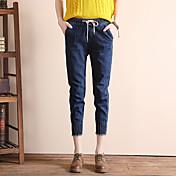 2017ジーンズは、単純な弾性帯域幅ソングhalunパンツ女性の足のズボンパンストサイン