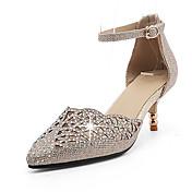 Mujer Tacones Tira en el Tobillo Zapatos para niña florista Zapatos del club Purpurina Materiales Personalizados Primavera Verano Otoño