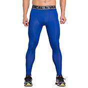 Vansydical® Hombre Pantalones de Running - Rojo, Azul Deportes Ropa de Compresión / Medias / Mallas Largas / Leggings Ropa de Deporte